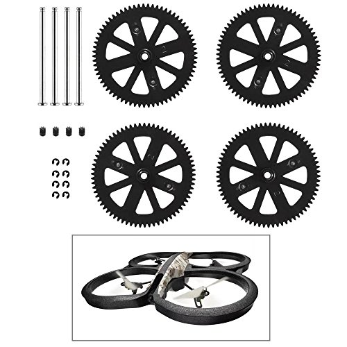 (Paddsun Spur Spare Parts & Pinion Gears Kit for Parrot AR Drone 2.0 Gears & Shafts)