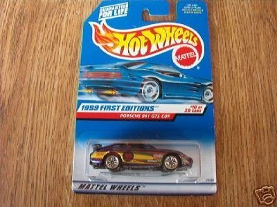 Hot Wheels 1999 First Editions 1:64 Scale Purple Porsche 911 GT3 Cup 10/26 Die Cast Car (Cup Porsche Gt3)