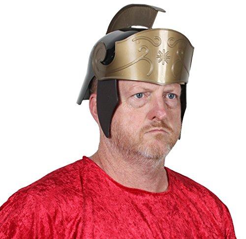 Alexanders Costumes Men's Deluxe Roman Helmet Two Tone, Black, One -