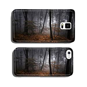 dark misty forest at night with colorful leaves cell phone cover case iPhone6 Plus