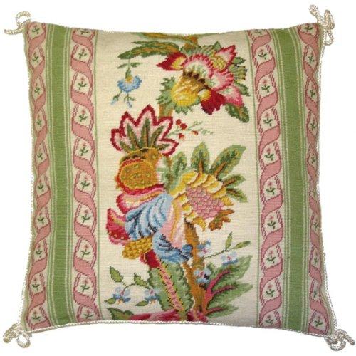 デラックス枕抽象花のピンク – 16 x 16 in. Needlepoint枕   B00ADW3YU8