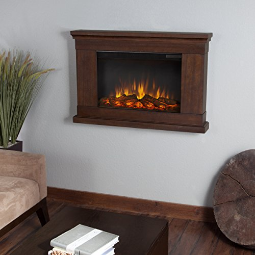 Real Flame 760E-VBM Wall-hung electric fireplace, Vintage Black Maple, Small