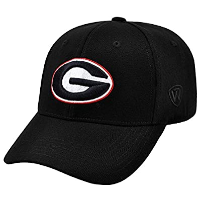 Georgia Bulldogs NCAA Top of the World Premium Collection Memory Fit Hat M/LG by Top of the World