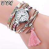 Ladies Quartz Watch Hosamtel Girls Women's CCQ Fashion Analog Ladies Dress Bracelet Watches (A)