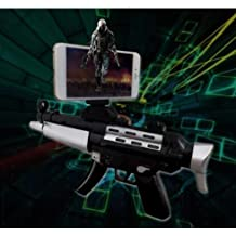 Intelligent Black AR8 Game Gun Augmented Reality 3D 360° AR Gun for VR Video Game with Bluetooth Connecting IOS, Android Smart Phone