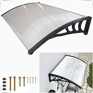 Safekom Toldo de puerta delantera y trasera de techo porche exterior Toldo Refugio sombra para patio 120x 80cm