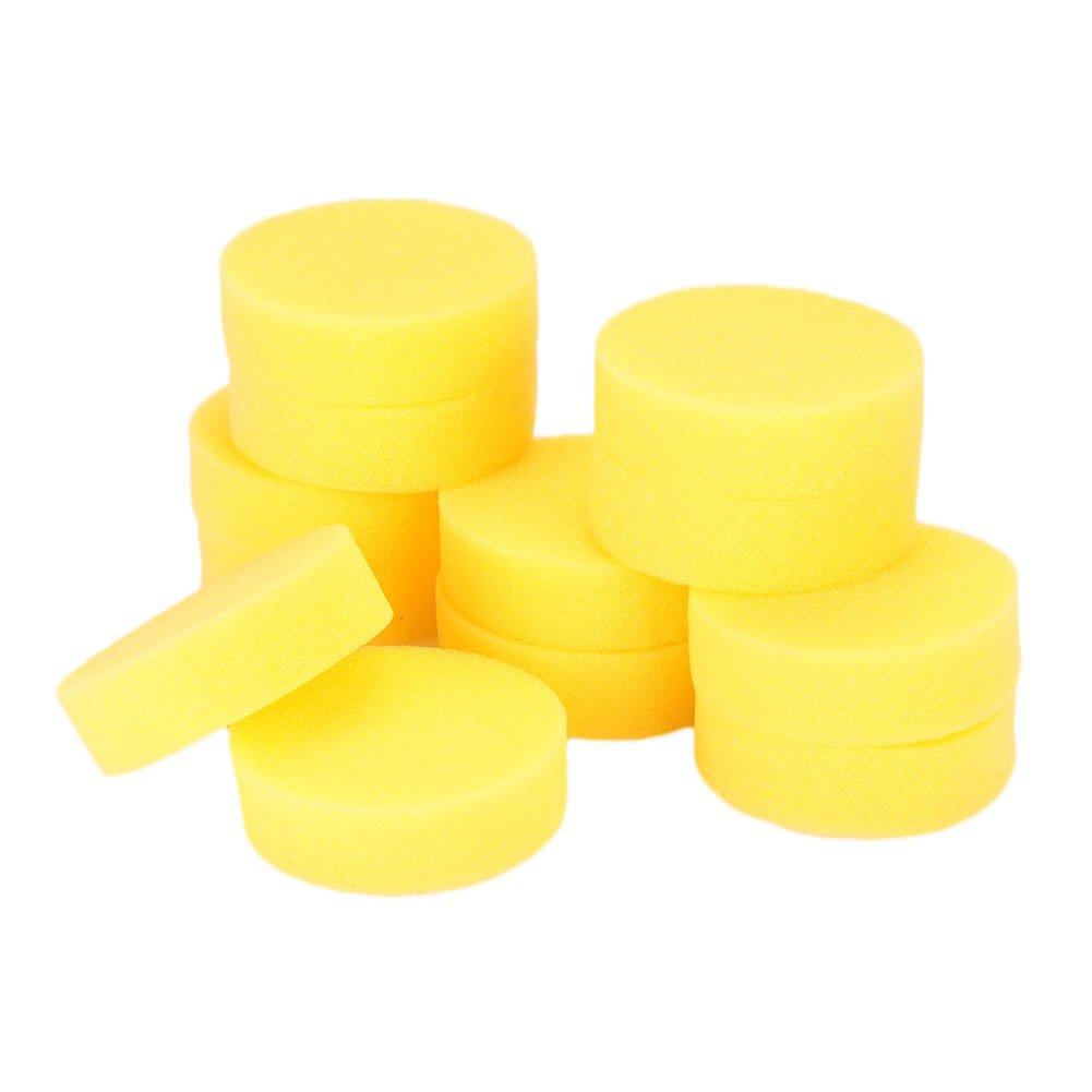 Cepillo para Ventana de automó vil Esponja Rueda Cubo de neumá tico Limpieza Herramienta de Pulido de Esponja depiladora (12 Piezas) Beautyrain