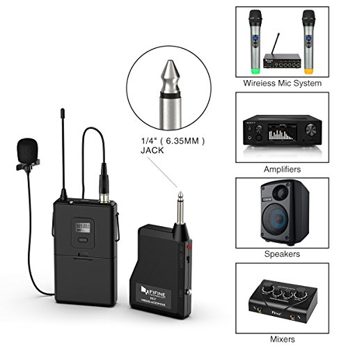 Wireless Microphone System,Fifine Wireless Microphone set with Headset & Lavalier Lapel Mics, Beltpack Transmitter&Receiver,Ideal for Teaching, Preaching and Public Speaking Applications.(K037B) - Image 4