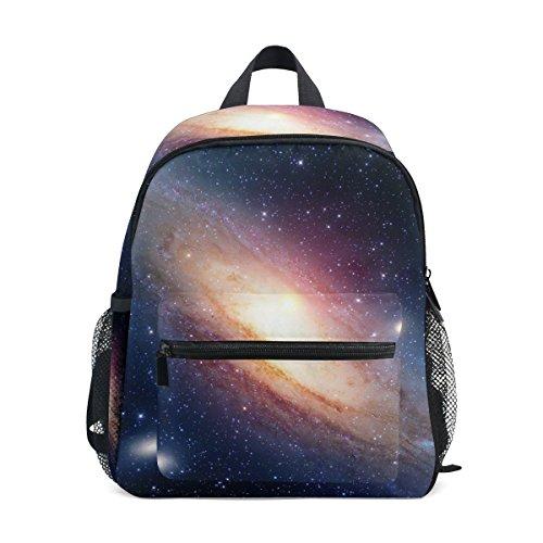 U LIFE Galaxy Stars Planet Nebula Space Universe - Mochila escolar para niños y niñas