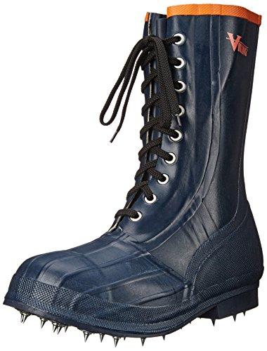 Viking Footwear Spiked Forester Caulk Boot, Black/Orange, 7 M US