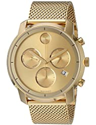 Movado Mens Swiss Quartz Tone and Gold Plated Watch(Model: 3600372)