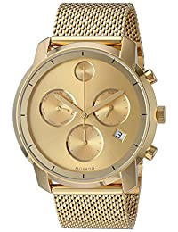 Movado Men's Swiss Quartz Tone and Gold Plated Automatic Watch(Model: 3600372)