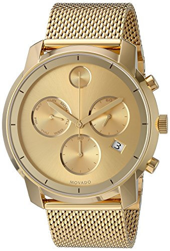 Movado Men's Swiss Quartz Tone and Gold Plated Watch(Model: 3600372)