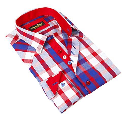 Buy light blue and white checkered dress - 7
