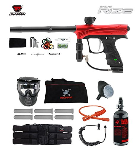 MAddog Proto Rize Corporal HPA Paintball Gun Package - Red Dust (Rail Trigger Proto)