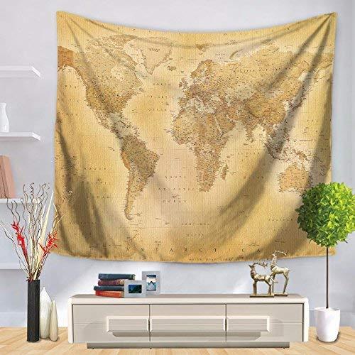 【即納】 ホームテーブルクロス HOMEタペストリーヴィンテージ世界地図プリント壁掛けテーブルクロス(カラー:イエロー、サイズ:150 (色** 200CM) 美しいタペストリーのために (色 : 150*200CM) Yellow, サイズ : 150*200CM) 150*200CM Yellow B07MS9ZBGL, 東京ぶらんど:c5b02c8b --- webtricky.com