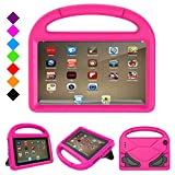 Fire 7 2017 Case, Fire 7 2015 Case,Riaour Light Weight Kids Shock Proof Stand Cover for Amazon Fire 7 Tablet (5th Generation, 2015 Release and 7th Generation, 2017 Release)(Rose)