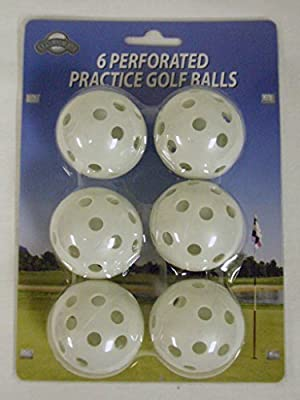 On Course Perforated Practice Golf Balls (6pk) Plastic Wiffle Ball NEW