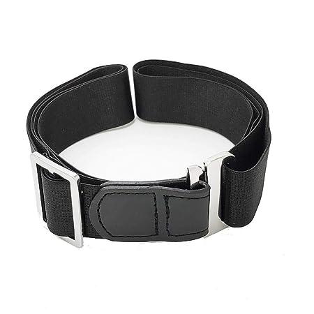 Sharplace Cintura de Camisa Negra para Hombre Stay Belt Antideslizante Antiarrugas Cinturón Oculto Ajustable 3 Cm: Amazon.es: Electrónica