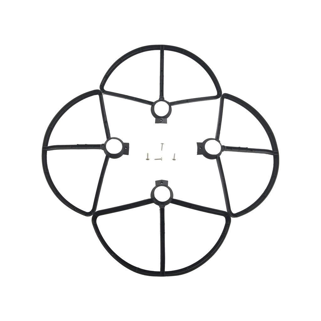 Fytoo 4PCS Elica a Tre Pale e 4PCS Cover Protettiva per MJX B5W F20 Bugs 5W Quadcpter Pezzo di Ricambio-Nero