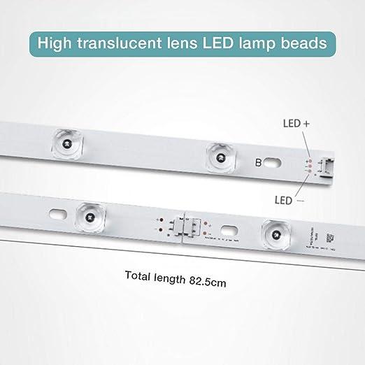 gouxia74534 8pcs retroiluminación por LED Tira 4 Granos de la lámpara Barra de luz para LG 42 Pulgadas TV INNOTEK DRT 3.0 42