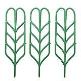 3pcs Mini DIY Leaf Shape Garden Trellis Plants Lattice Pots Supports for Climbing Plants Potted Vines Ivy Cucumbers
