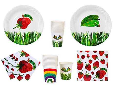 Talking Tables The Very Hungry Caterpillar Party Bundle for Children's Reading & Birthday Party | Wonderfully Designed Plates, Napkins, Cups]()
