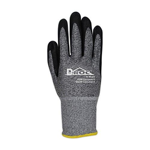 Magid Glove & Safety GPD586-10 Magid D-ROC 18-Gauge HPPE Blend Foam Nitrile Palm Coated Work Glove Cut Level 4, 11, Salt & Pepper , 10 (Pack of 12) by Magid Glove & Safety (Image #1)
