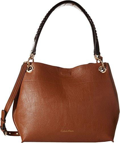 Calvin Klein Reversible Novelty Hobo Bag, Brown/Black, One Size