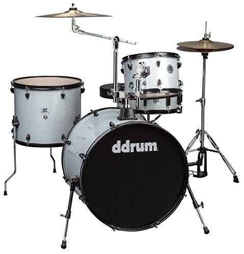 ddrum D2 Rock Series Complete Drum Set with Cymbals, Silver ()