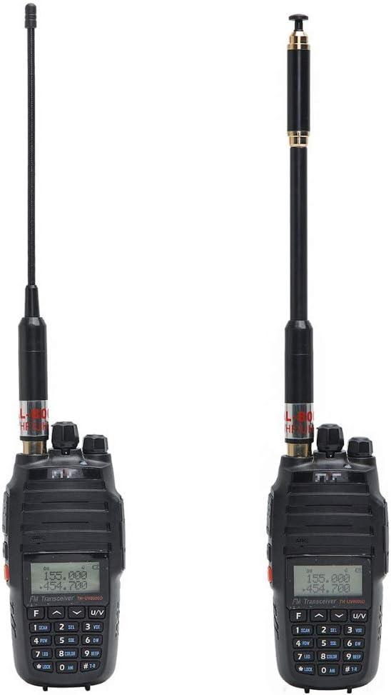 AL-800 Banda Dual SMA-Hembra Antena Extensible VHF/UHF 2 Metro 70cm Antena de Radio Desmontable Extensible de Mano para Baofeng BF-UV5R BF-888s PUXING ...