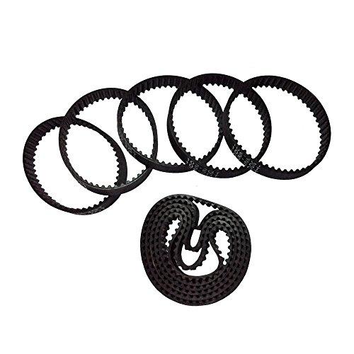 BEMONOC 2GT Timing Belt 102-2GT-6 Rubber Conveyor Belt L=102mm W=6mm 51 Teeth in Closed Loop for 3D Printer Pack Of 10pcs
