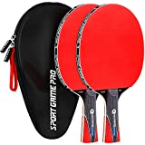 Sport Game Pro Ping Pong Paddle with Killer Spin - Table Tennis Paddle with Comfort Grip 2.0 mm Spunge - Table Tennis Racket Bat with Gift Box