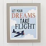Carter's Take Flight Airplane/Cloud Framed Nursery