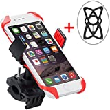 Bike Mount with 2pcs Silicon Bands, Levin Motorcycle Phone Mount Universal Cell Phone Bicycle Rack Handlebar