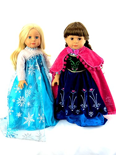 [Princess Anna and Queen Elsa Frozen Inspired Outfits | Fits 18