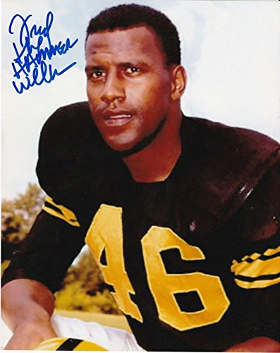 "FRED WILLIAMSON""THE HAMMER"" PITTSBURGH STEELERS ACTION SIGNED 8x10 - Autographed NFL Photos"