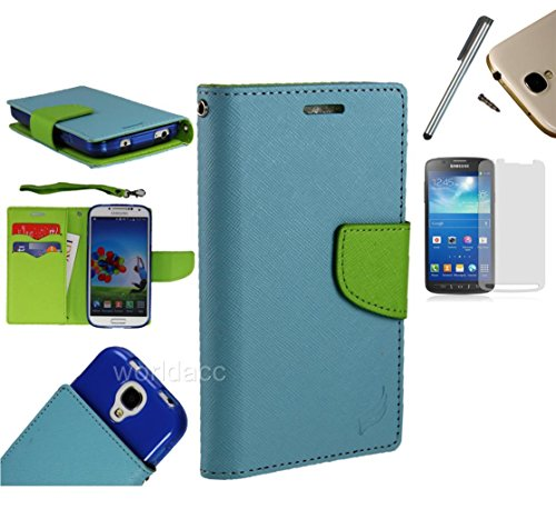 For Samsung Galaxy Ace Style S765C / SM-G310 (Straight Talk Net10 TracFone) PU Leather Flip Cover Folio Book Style Pouch Card Slot Myjacket Wallet Case + [WORLD ACC] TM Brand - Flip Ace Samsung Galaxy Cover