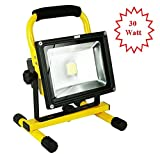 30W Ultra Bright MyraBec CORDLESS Rechargeable LED Floodlight, 2 Brightness Levels, for Contractors, Home & Farm, Job Site & Large Areas