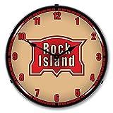 Cheap Rock Island Railroad Logo Lighted Wall Clock