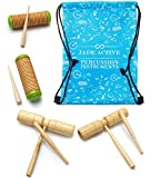 Wood Guiro Percussion Set - Great Musical Toys for Kids that Help Children Learn and Develop!