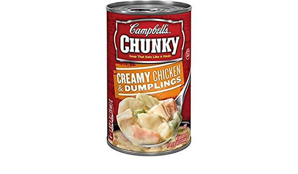 Campbells Chunky Creamy Chicken and Dumpling Soup, 18.8-Ounce (Pack of 6)