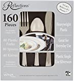 "Reflections Heavyweight ""Looks Like Silver"" Disposable Flatware, 160 Piece"