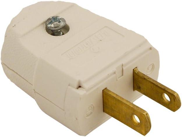 5 Leviton Brown 1-15 Straight Blade Connector Plugs NEMA 1-15R 15A 125V 102-P