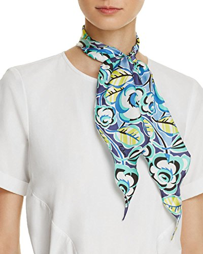 Silk Havana (Echo Design Women's Sketchy Floral Silk Diamond Scarf Havana Blue Scarf)