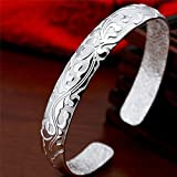 Sumanee Fashion Female Jewelry Silver Plated Bangles Cuff Bracelets