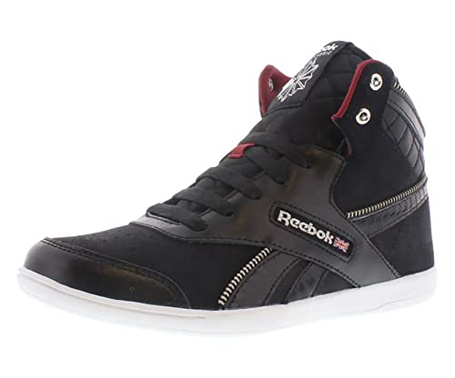 7c8c53ee30dd Reebok Women s BB 7000 Mid Lace-Up Fashion Sneaker Black White Mesa  Red Flint Grey Metallic 7 B(M) US  Buy Online at Low Prices in India -  Amazon.in