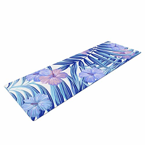 Kess InHouse Marta Olga Klara Hawaiian Pattern Exercise Yoga Mat