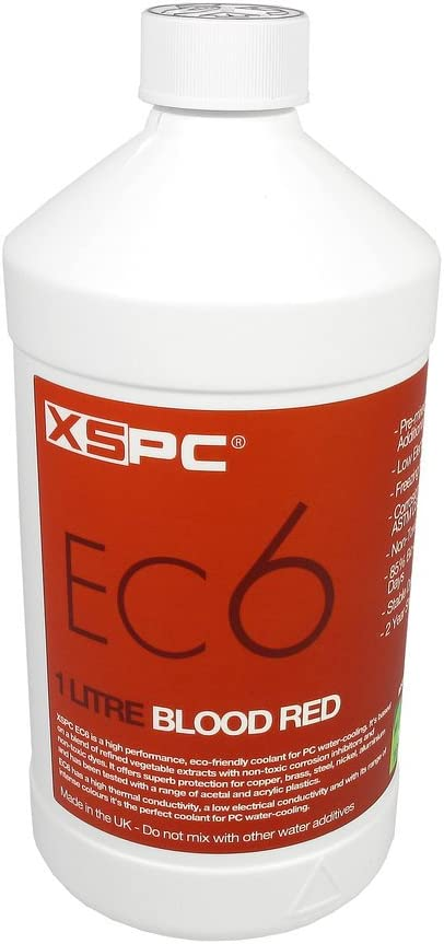 XSPC EC6 High Performance Premix Coolant, 1000 mL, Blood Red