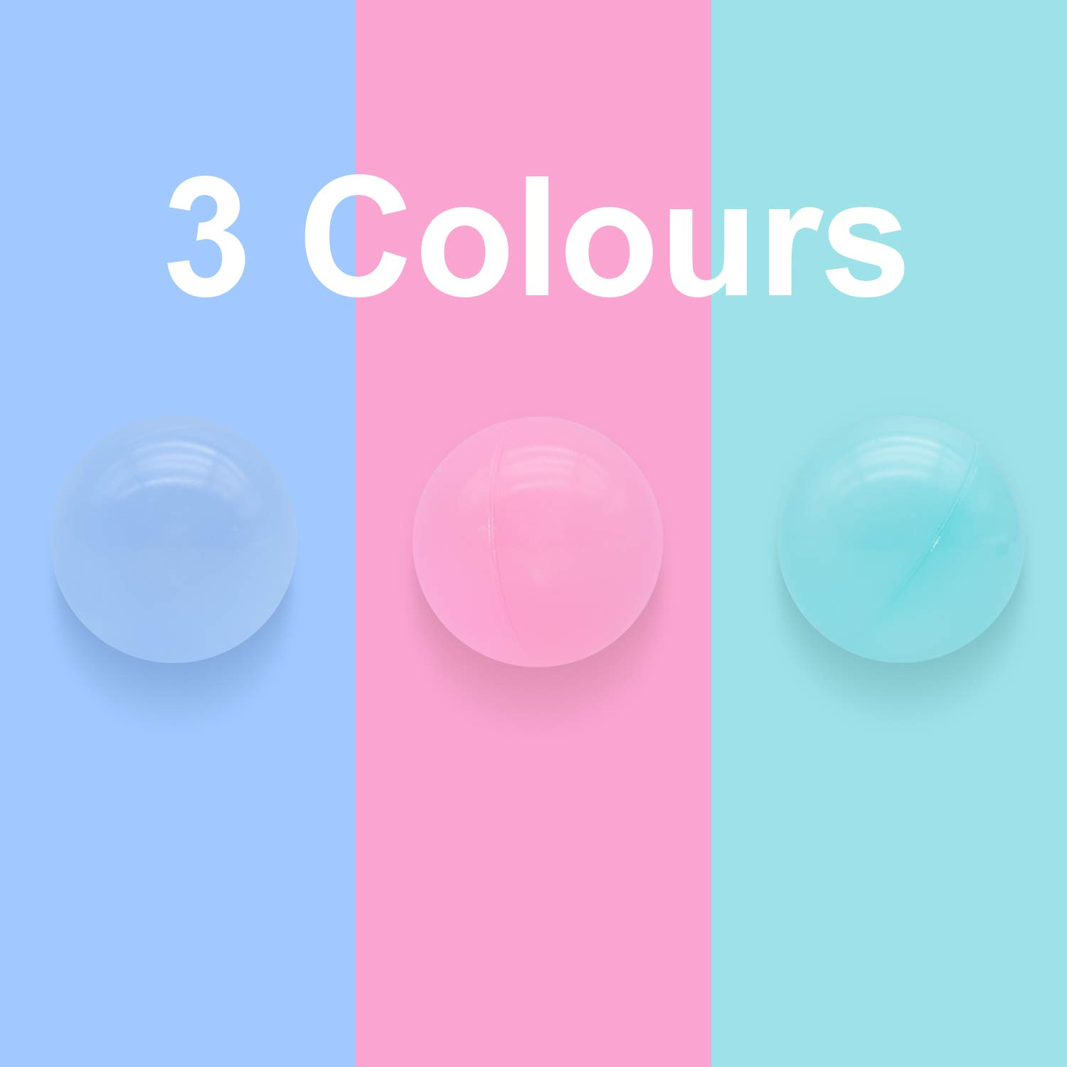 3 Macaron Colors Pit Balls Non-Toxic Free BPA Soft Plastic Balls for Ball Pit Play Tent Baby Playhouse Pool Birthday Party Decoration TRENDBOX 100 Ball